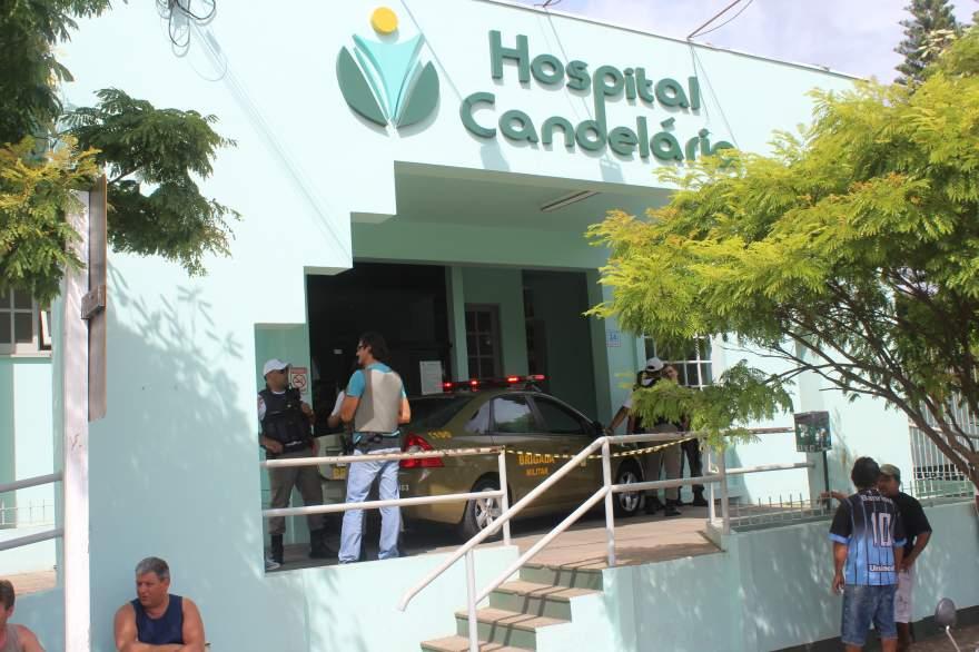 Crime ocorreu na recepção do Hospital Candelária - Fotos: Tiago Garcia - Folha de Candelária