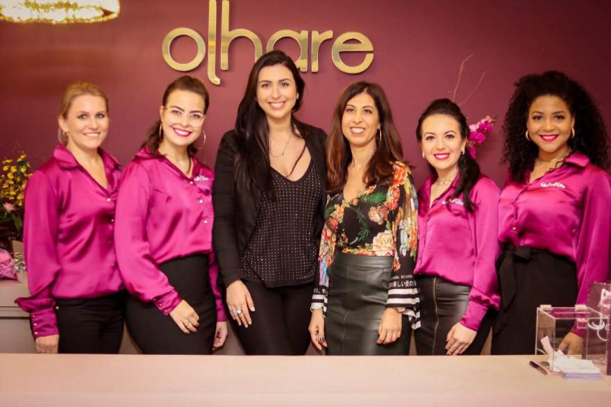 A equipe: Patrícia Heiderich, Greice Gewehr, Cristiana, Ivânnia, Mayara Cezar e Paola Zanella