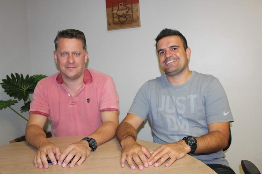 Rafael Vezentini e Douglas Braga confirmaram a participação do Atlético e da Korpus/Atlético na Liga Gaúcha de Futsal 3 e Liga Gaúcha Sub 15