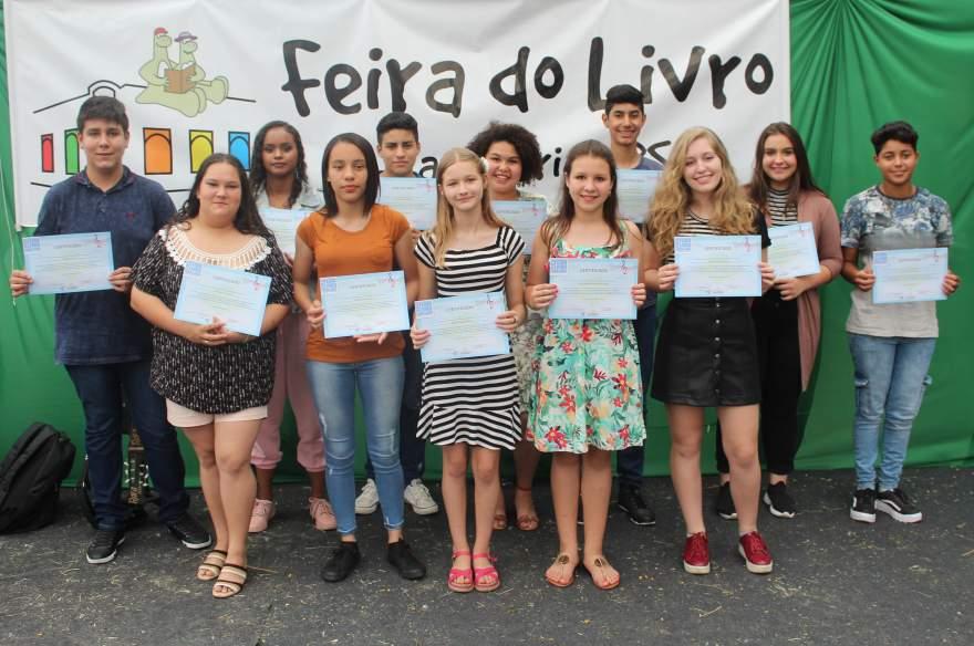 Os participantes da categoria infantojuvenil