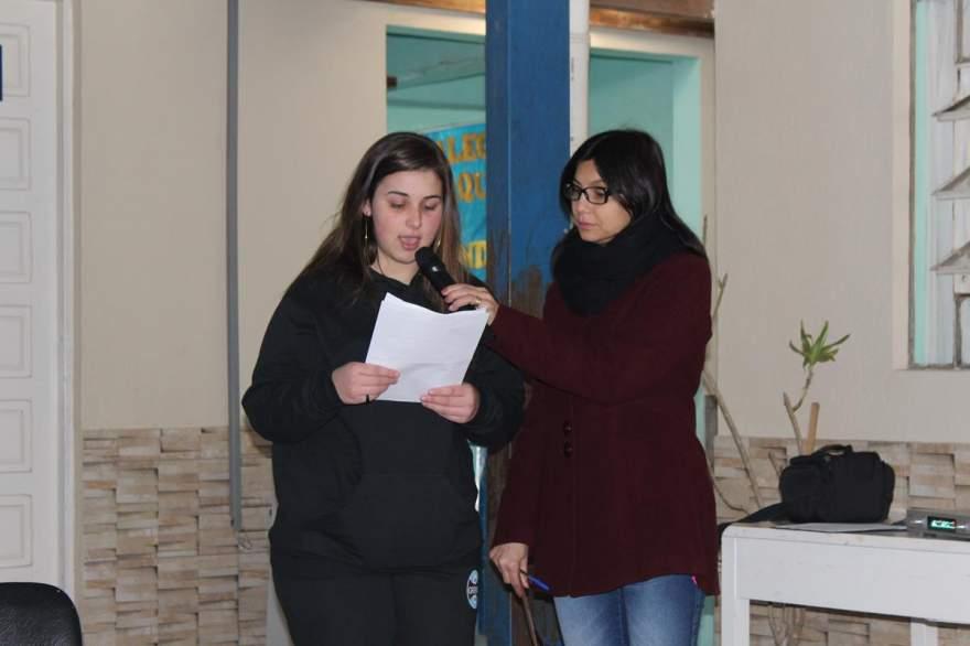 A candidata Diulia Yasmin Freire