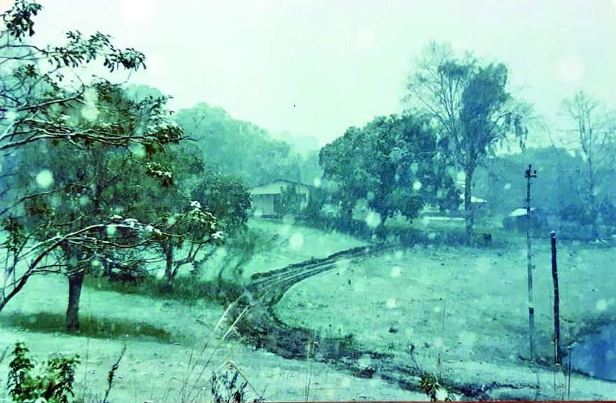 Imagem da Vila União de julho de 2000: forte nevasca