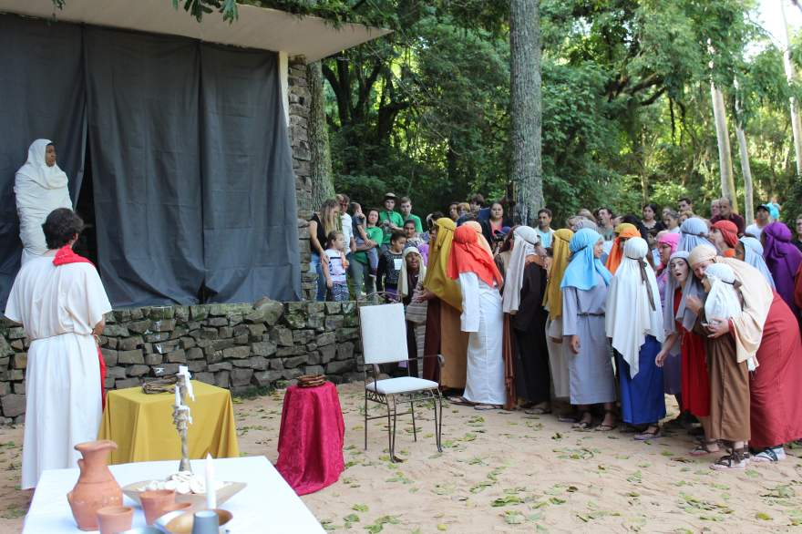 A ressurreição de Lázaro foi mostrada na peça