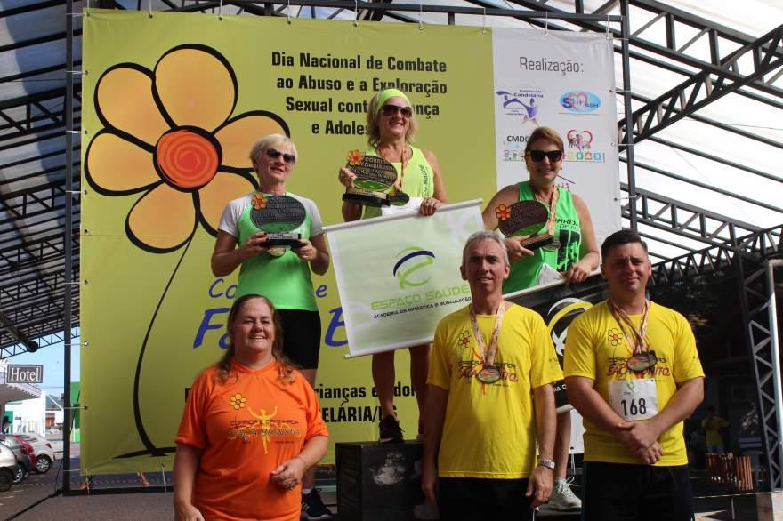 Premiação 60/64 anos feminino 4km
