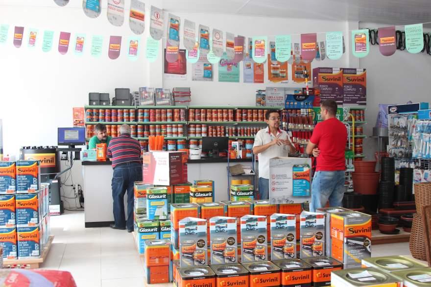 Loja oferece uma grande variedade de produtos da Linha Suvinil