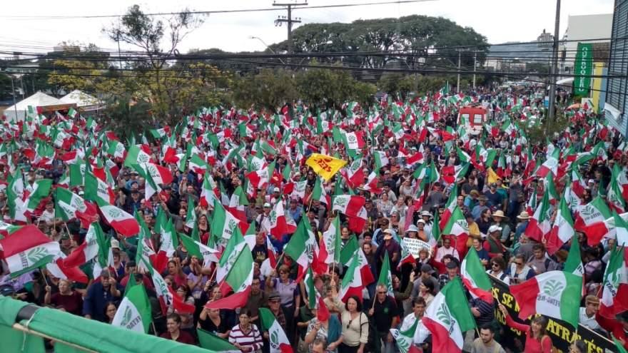 Manifestação foi a maior já registrado pela Fetag/RS