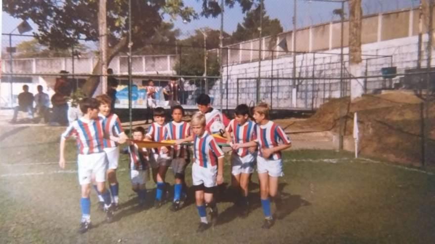 Atlético entrando em campo no Rio de Janeiro - Arquivo Rodolfo Feldmann