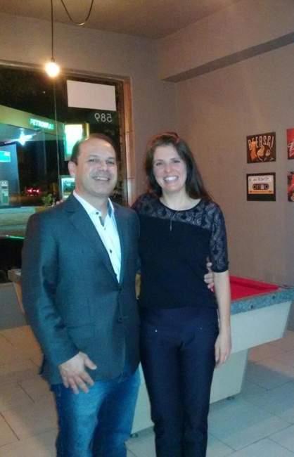 O presiedente da OAB de Candelária, Joel Pereira Nunes, e a juiza Juliana Oliveira