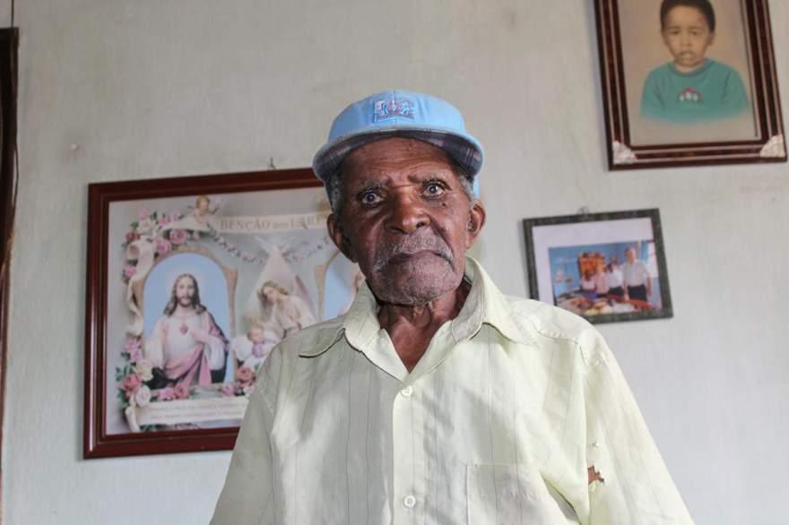 José Maria de Souza, o Juca, tinha 104 anos - Crédito: Arquivo / Folha