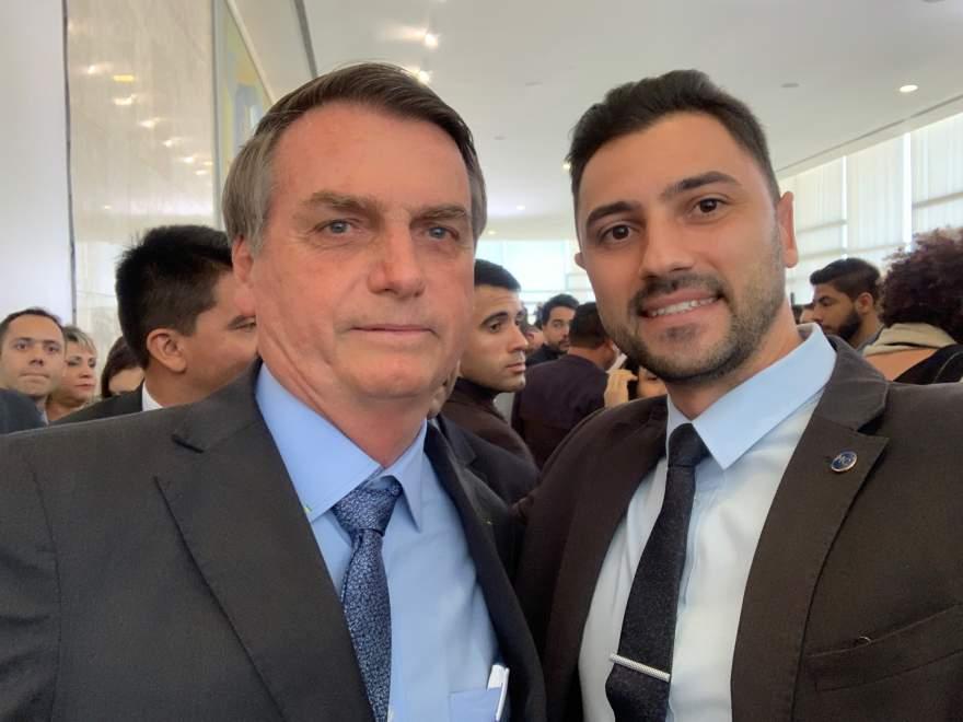 Anderson com o presidente Jair Bolsonaro