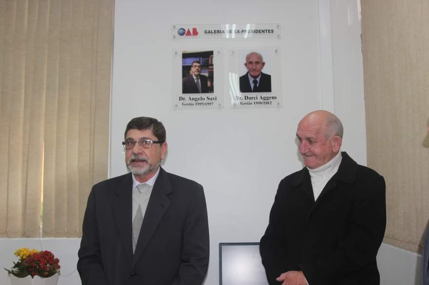 Ex-presidentes da OAB Subseção Candelária Angelo Savi e Darci Aggens foram homenageados com galeria de fotos