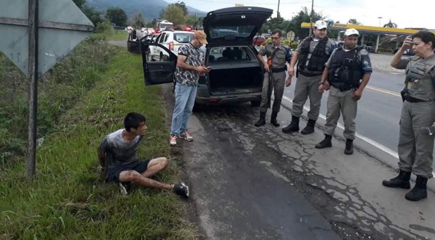 Foragido foi detido pela Brigada Militar nas proximidades do Posto Lago Azul
