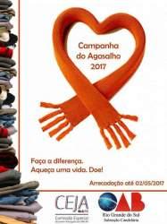 Cartaz da primeira ação: campanha do agasalho