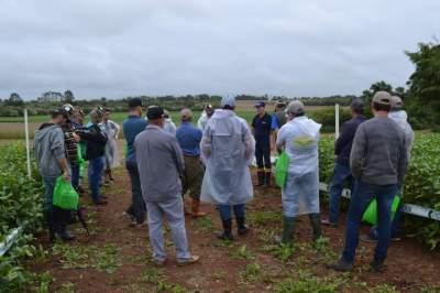 Produtores enfrentaram o mau tempo para participar do dia de campo