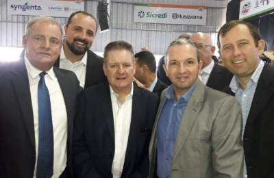 Vice-Prefeito de Candelária, Nestor Ellwanger com o vice governador Ranolfo Vieira
