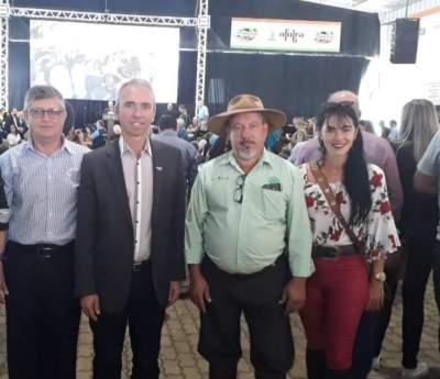 Marco Treichel, Paulo Butzge, Juarez Cândido e Neide Rodrigues  prestigiaram a solenidade de abertura da Expoagro