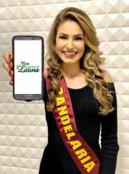 A alegria da Miss Latina Candelária
