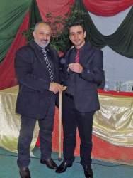Em 2016, Leodegar entregou as chaves da Prefeitura para o atual prefeito André de Lacerda