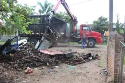 Operação Desmanches interdita ferro velho irregular no Rincão Comprido