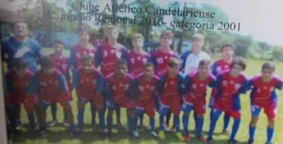 Categoria 2001 do Atlético - campeão regional em 2016 - Arquivo Douglas Braga