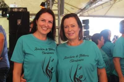 As organizadoras do evento Flãvia Borstmann e Naida Puntel Ribeiro