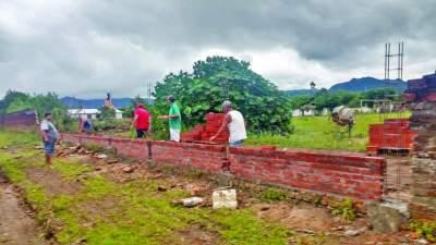 Obras no Darcy Martin iniciam pela reconstrução do muro