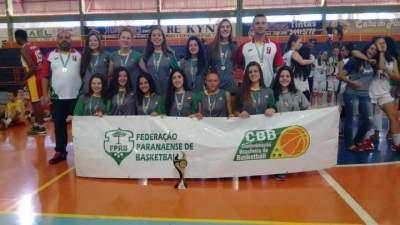 Candelarienses conquistam o Sul-Brasileiro de basquete sub-15 feminino