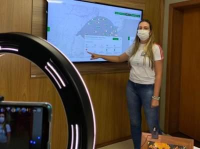 Secretária da Saúde, Grazieli Priebe, apresentou os indicadores que colocaram a região em bandeira preta