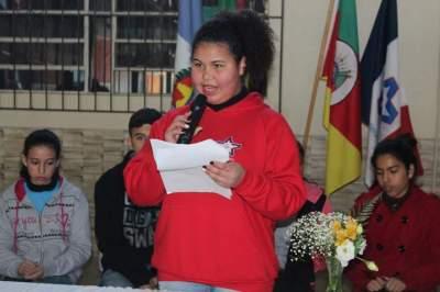 A candidata Elinéia Pereira