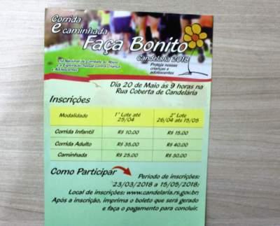 Assistência Social: Inscrições para corrida faça bonito encerra dia 15