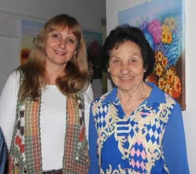 Viviane com a mãe Iva Lenz