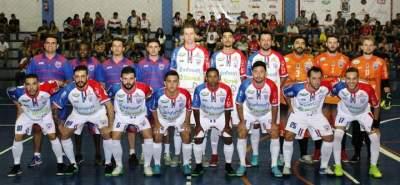 A equipe e comissão técnica do confronto contra o Rabelo F. C. de Alvorada