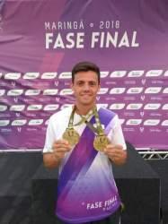 Mauricio Scota conquista três ouros no Jubs