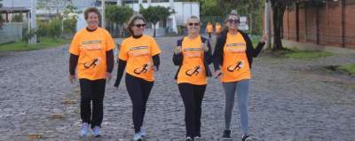 Corrida e caminhada pelas ruas de Candelária