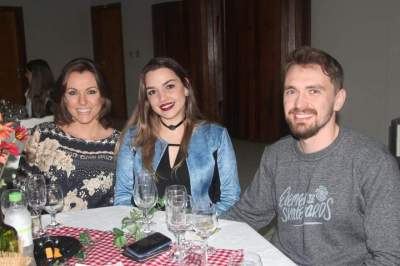 Melina Pohl, Paula Thume e Augusto Pohl
