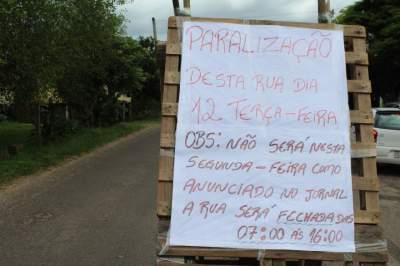 Moradores da Rua da Praia organizam protesto nesta terça, 12