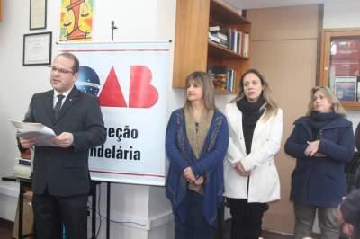 Presidente da OAB Subseção Candelária, Joel Pereira Nunes realizou a solenidade de inauguração