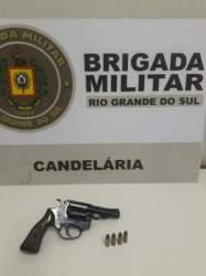 BM de Candelária prende homem por porte de arma de fogo