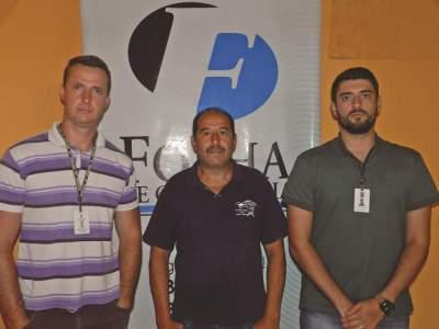 Fernando, Alcioni e Roberto: cuidados mínimos devem ser tomados para descarte de entulhos - Foto: Luciano Mallmann