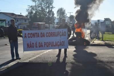 Protesto em Novo Cabrais
