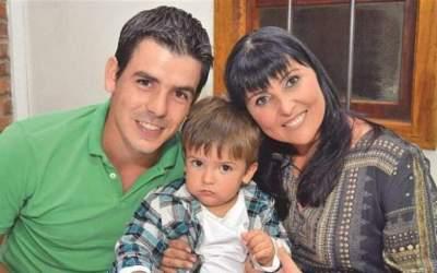 Adriano Chauveau e Silva, Ana Berwanger e o filho Davi
