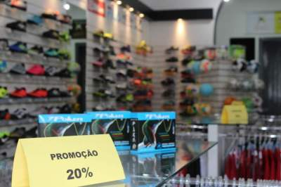 Promoção de reinauguração: artigos da loja estão com 20% de desconto