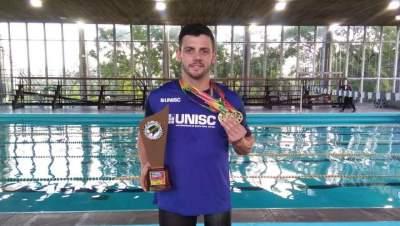 Mauricio Scota conquista quatro ouros nos Jogos Universitários Gaúchos