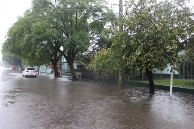 Chuva causa pontos de alagamento em Candelária