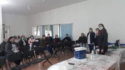 Profissionais responsáveis pelas coletas em Candelária passaram por um treinamento na sexta, 31