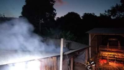Incêndio atinge duas estufas de fumo no interior de Candelária