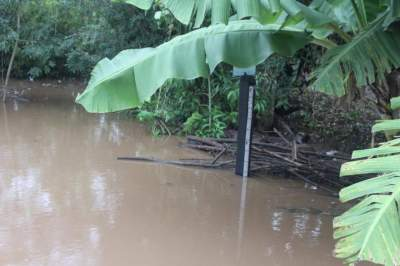 Régua no acesso à Prainha está sendo monitorado para verificar o avanço do rio