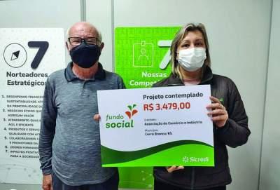 Cerro Branco e Novo Cabrais recebem recursos do Fundo Social da Sicredi
