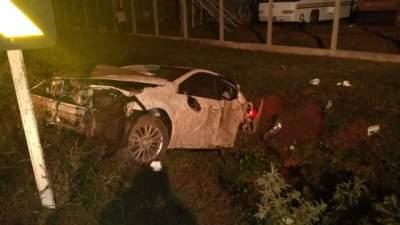 Capotamento causa morte do motorista na ERS 400