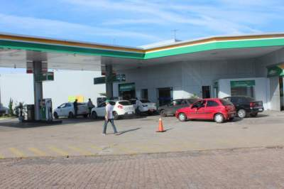 Gasolina nos postos perto do fim